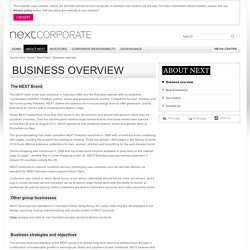 Business overview - Next Plc