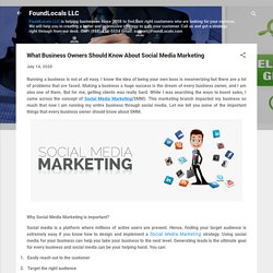 What Business Owners Should Know About Social Media Marketing