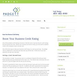Boost Your Business Credit Rating