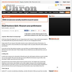 Small-business Q&A: Measure your performance
