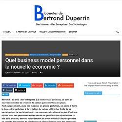Quel business model personnel dans la nouvelle économie