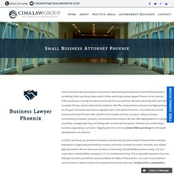 Small Business Lawyer Phoenix, Business Attorney Phoenix