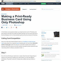 Just Great Photoshop Tutorials » Making a Print-Ready Business Card Using Only Photoshop