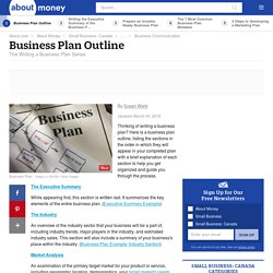 Business Plans - Business Plan Outline