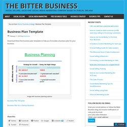 Business Plan Template – The Bitter Business