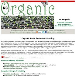 Organic Farm Business Planning, NCOrganic.org