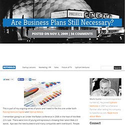 Are Business Plans Still Necessary?