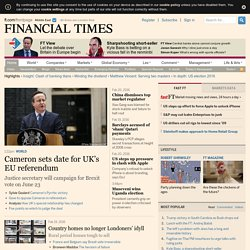 World business, finance and political news from the Financial Times– FT.com Middle East
