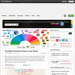 Business Blog / The Most Powerful Colors in the World by COLOURlovers