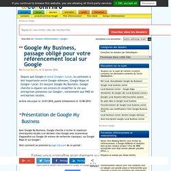 Google My Business : présentation complète en français