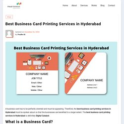 Best Business Card Printing Service in Hyderabad - Visual Catalyst