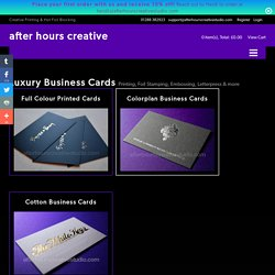 Luxury Business Cards - Quality Printing, Foil Stamping & Letterpress