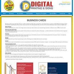 Best Custom Business Card Design & Printing in Roswell GA