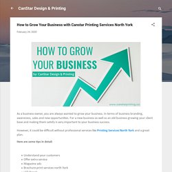 How to Grow Your Business with Canstar Printing Services North York