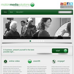 Video Production Company | Video Production Agency | MotionMediaSolutions.com