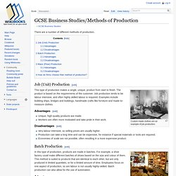 GCSE Business Studies/Methods of Production