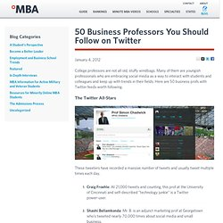 50 Business Professors You Should Follow on Twitter
