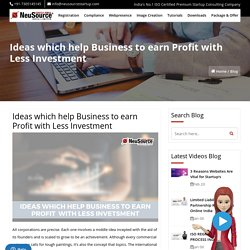 Business Ideas, Earn Profit in Less Investment Business