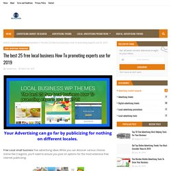 The best 25 free local business How To promoting experts use for 2019