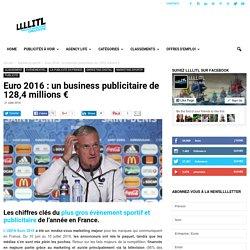Euro 2016 : un business publicitaire de 128,4 millions €LLLLITL