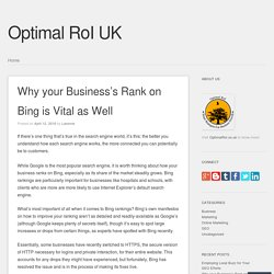 Why your Business's Rank on Bing is Vital as Well