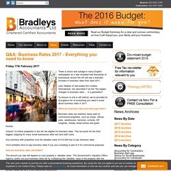 Q&A: Business Rates 2017 - Everything you need to know