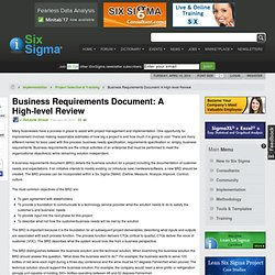 Business Requirements Document: a High-level Review