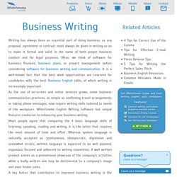 Business Writing Resources - WhiteSmoke for Business Writing