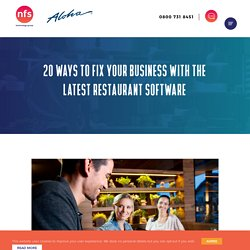 Fix your Business with these 20 Restaurant Software Top Tips