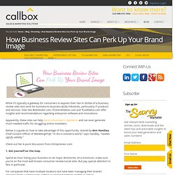 How Business Review Sites Can Perk Up Your Brand Image