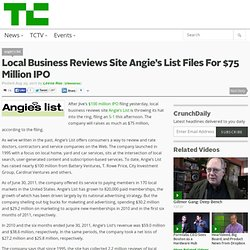 Local Business Reviews Site Angie's List Files For $75 Million IPO