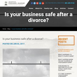 Is your business safe after a divorce?