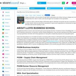 lloyd Business School Admission 2020
