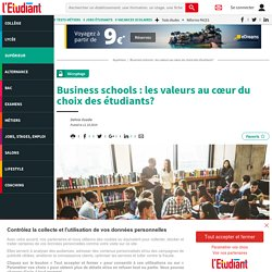 Business schools : les valeurs au cœur du choix des étudiants?
