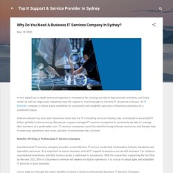 Why Do You Need A Business IT Services Company In Sydney?