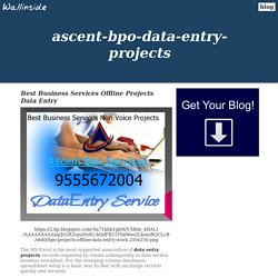 Best Business Services Offline Projects Data Entry