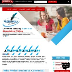 Business Writing At Reasonable Prices
