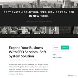 Expand Your Business With SEO Services- Soft System Solution