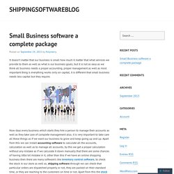 Small Business software a complete package