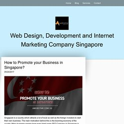 How to Promote your Business in Singapore? - awebstar