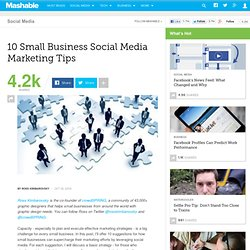 10 Small Business Social Media Marketing Tips
