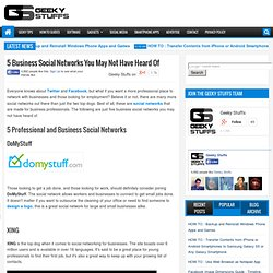 5 Business Social Networks You May Not Have Heard Of
