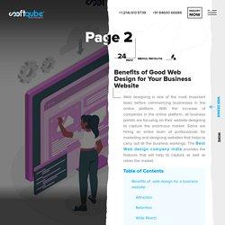 Benefit of Good Web Design for Business Website
