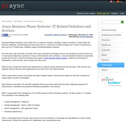 Avaya Business Phone Systems- IT Related Solutions and Services
