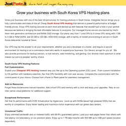 Grow your business with South Korea VPS Hosting plans