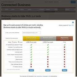 Technology / Digital Business - Business starts to take Web 2.0