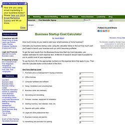 Business Startup Cost Calculator