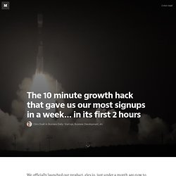 The 10 minute growth hack that gave us our most signups in a week… in its first 2 hours — Content Marketing Edge