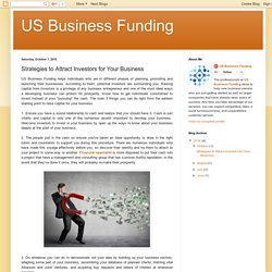 US Business Funding : Strategies to Attract Investors for Your Business