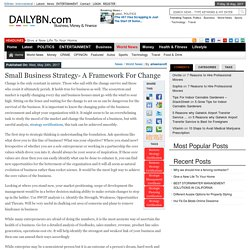 Small Business Strategy- A Framework for Change – DailyBN